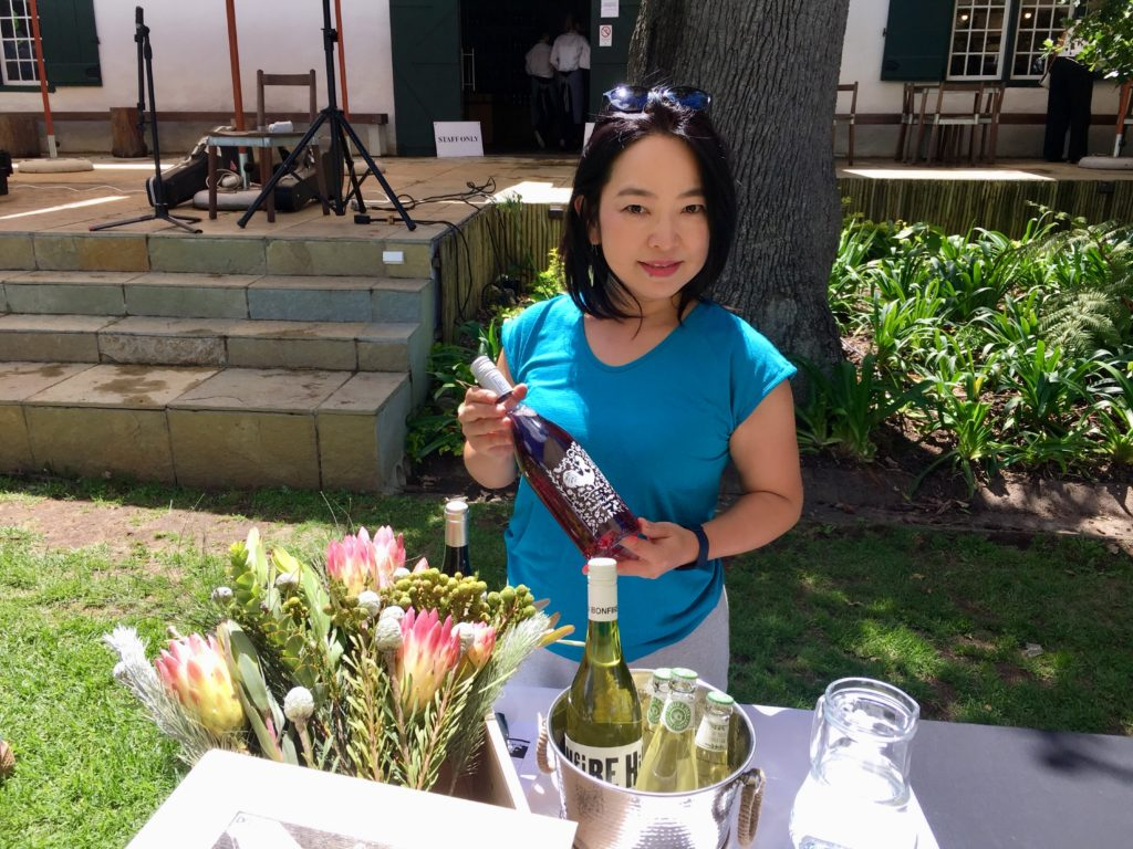 Pouring The Drift Estate Wines at Constantia Fresh 2018