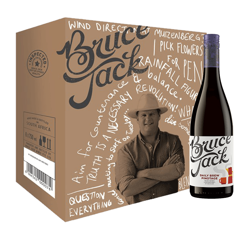 Bruce Jack Daily Brew Pinotage 2018 Case (6x750ml)