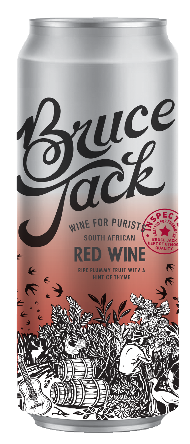 Bruce Jack Red Wine Cans Case (24x300ml)